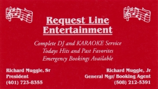 Request Line Entertainment Business Card
